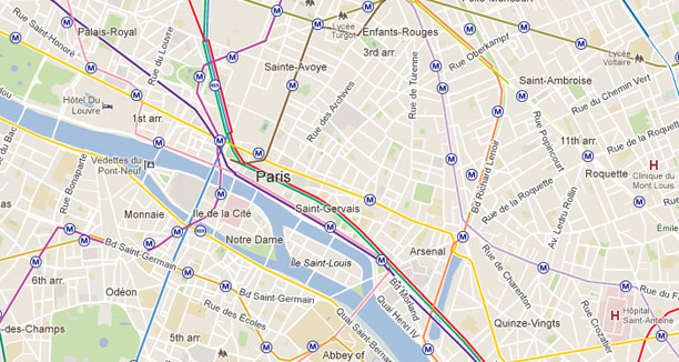 paris metro map